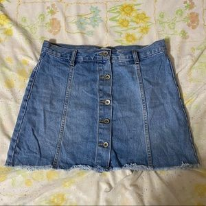 F21 Button Denim Skirt
